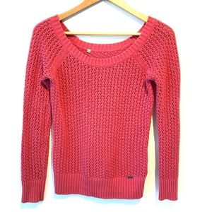 Guess | pink see-through knit sweater